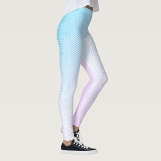 Polka Dot Halftone Leggings in Blue/Purple