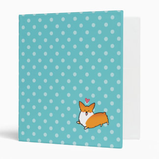 Polka Dot Happy Corgi Binder