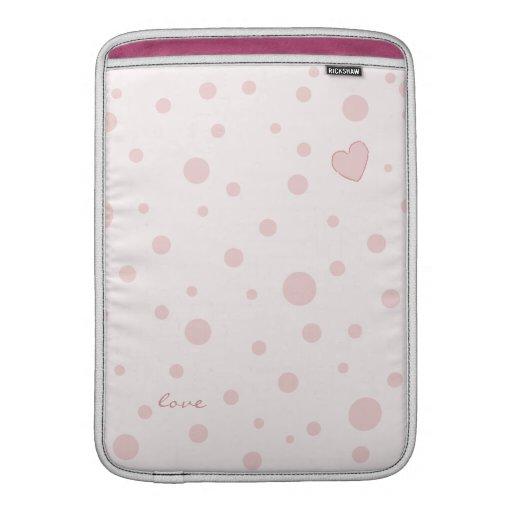 Polka Dot Heart MacBook Air MacBook Sleeves