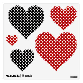 Polka-dot Heart: Wall Decals