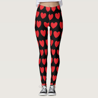Polka Dot Hearts Leggings