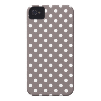 Polka Dot Iphone 4S Case in Driftwood Brown