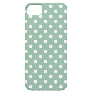 Polka Dot iPhone 5/5S Case in Grayed Jade Green