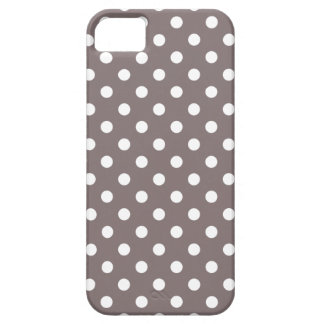 Polka Dot Iphone 5 Case in Driftwood Brown