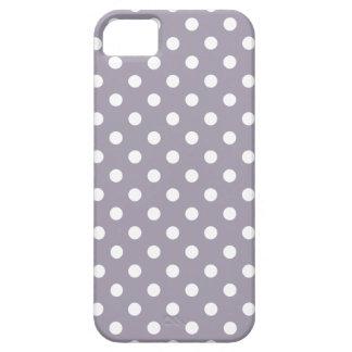 Polka Dot iPhone 5 Case in Sea Fog Purple