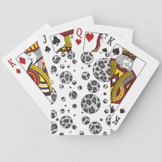 Polka Dot Leopard Black and White Design Card Decks