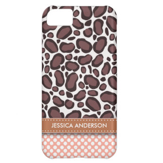 Polka Dot Leopard Print iPhone 5 Case-Mate