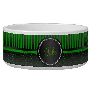 Polka Dot Lime Green and Black Stripes - DIY Name