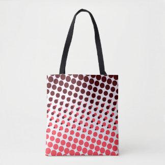 polka dot maroon pink tote bag