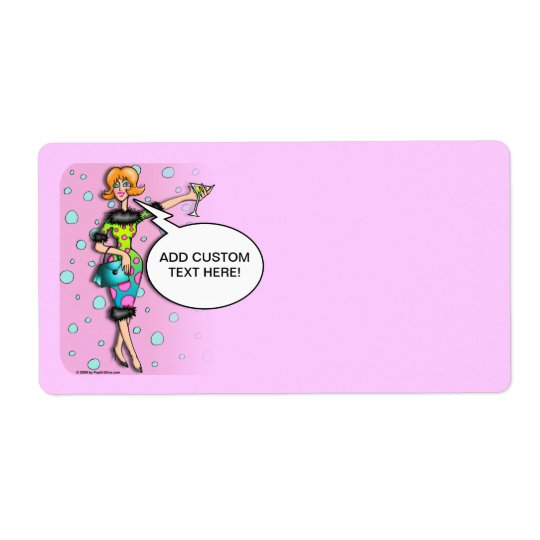 POLKA DOT MARTINI DIVA Avery LABELS