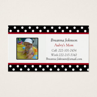 Polka Dot: Mom Contact Card