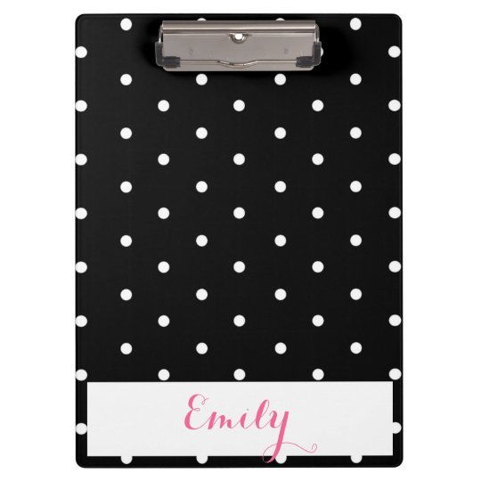 Polka Dot Monogram Clipboard
