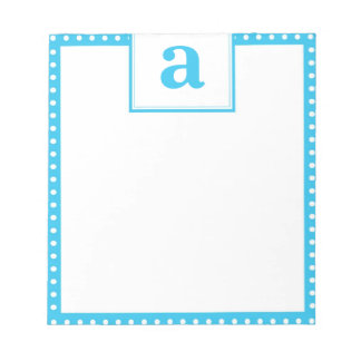 Polka Dot Monogram Notepad