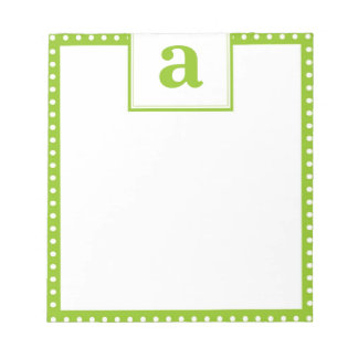 Polka Dot Monogram Notepad