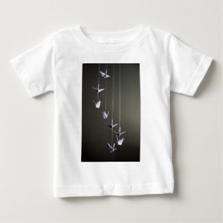 polka dot origami crane mobile t shirt