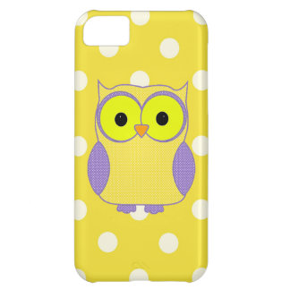 Polka Dot Owl iPhone 5C Cases