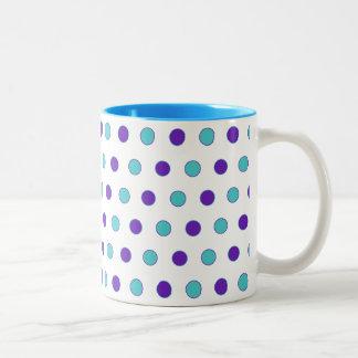 Polka Dot Parade Two-Tone Coffee Mug