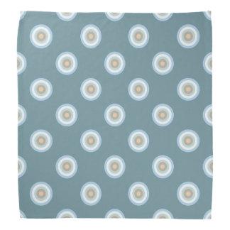 Polka Dot Pattern -Blue Brown Sand Beige Turquoise Bandana
