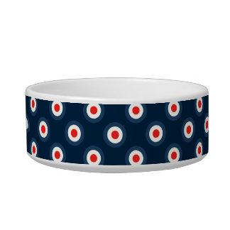 Polka Dot Pattern - Blue Red White Bowl