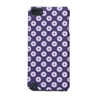 Polka Dot Pattern - Blue Violet Purple Lavender iPod Touch 5G Cover