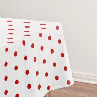 Polka dot pattern classic retro style tablecloth