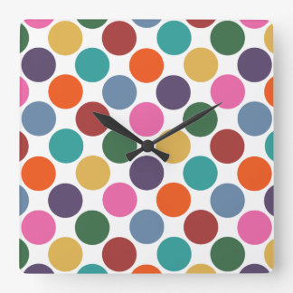 Polka Dot Pattern Clock