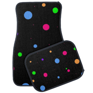 Polka Dot Pattern on Car Mats