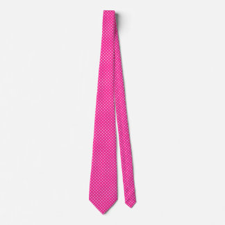 Polka Dot Pattern Pink Necktie