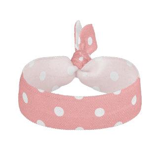 Polka dot pattern wedding hair tie for bridesmaids