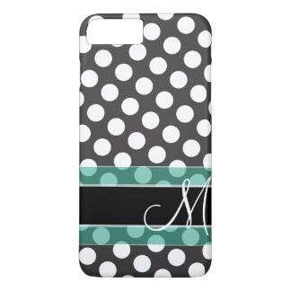 Polka Dot Pattern with Monogram iPhone 7 Plus Case
