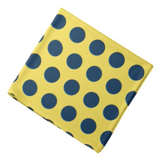 Polka dot pattern yellow fabric circles dots ovals bandana