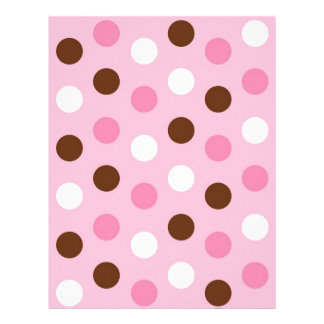 Polka Dot Pink White Baby Scrapbook Paper