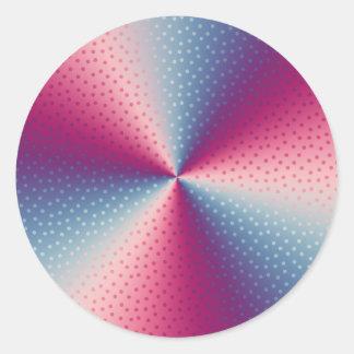 Polka Dot Prism Classic Round Sticker