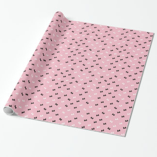 Polka Dot Puffy Bows Wrapping Paper