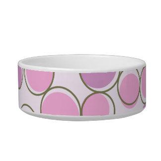 Polka Dot Purple Pink Pet Bowl
