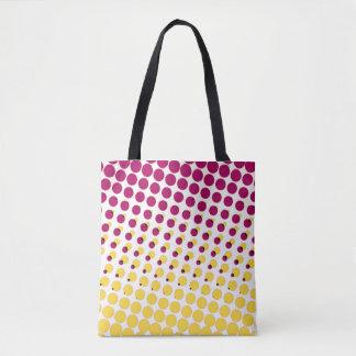 polka dot purple pink tote bag