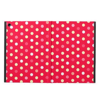 Polka dot red yellow white ipad air powis case iPad air covers