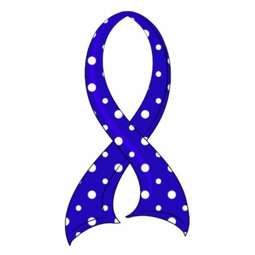 Polka Dot Ribbon Dysautonomia Cut Outs