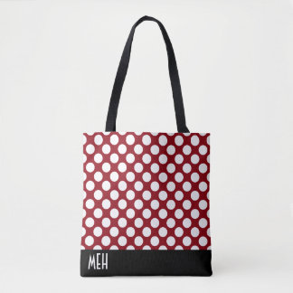 Polka Dot RM Monogram Tote Bag