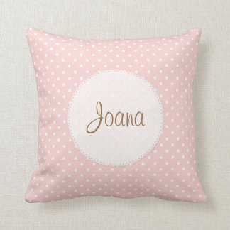 Polka Dot Scalloped Edge Custom Name Pillows