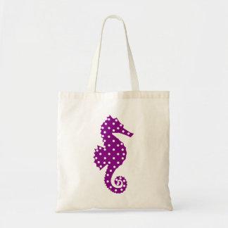 Polka Dot Seahorse Budget Tote Bag