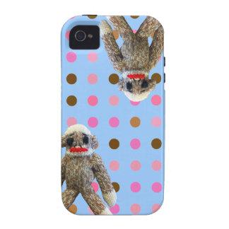 Polka Dot Sock Monkey iPhone 4 Cover