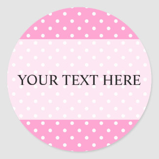 Polka dot stickers with custom background color