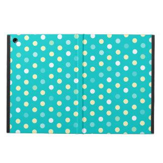 Polka dot teal yellow white ipad air powis case cover for iPad air