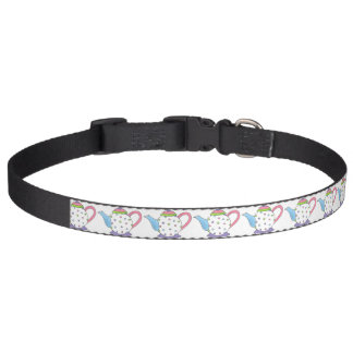 Polka Dot Teapot Tea Pot Teaparty Tea Party Print Pet Collar