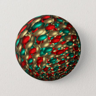 polka dot texture abstract fractal art 2 inch round button
