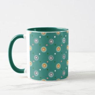 Polka dot themed mug