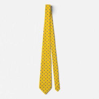 Polka Dot Ties Gold Yellow Blue Colors Design