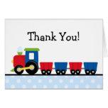 Polka Dot Train Thank You Greeting Cards