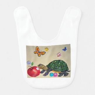 Polka Dot Turtle Design Baby Gift Shabby Chic Bib